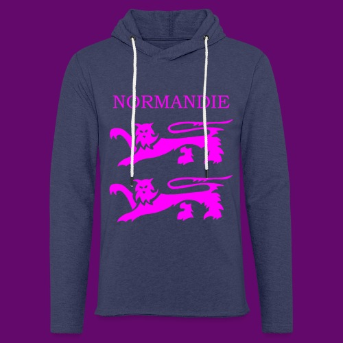 TEE SHIRT NORMANDIE LIONS ROSES - Sweat-shirt à capuche léger unisexe