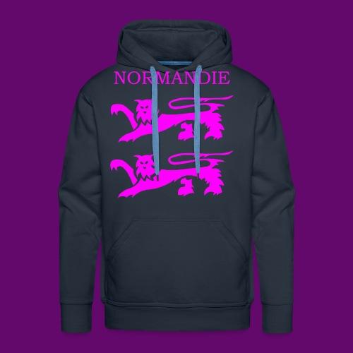 TEE SHIRT NORMANDIE LIONS ROSES - Sweat-shirt à capuche Premium pour hommes