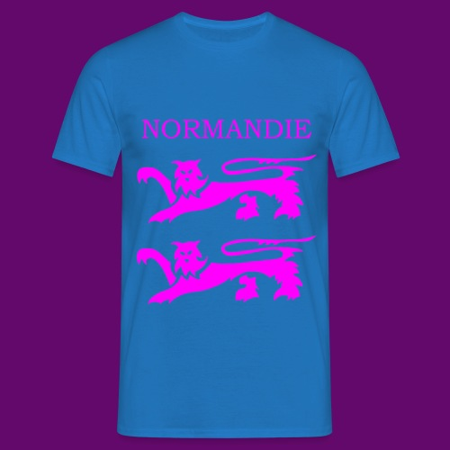 TEE SHIRT NORMANDIE LIONS ROSES - T-shirt Homme