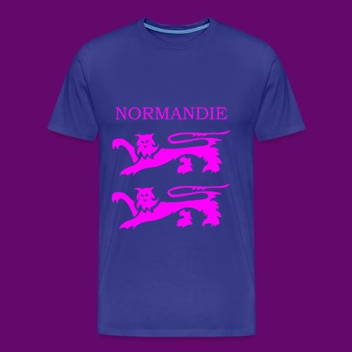 TEE SHIRT NORMANDIE LIONS ROSES - T-shirt Premium Homme