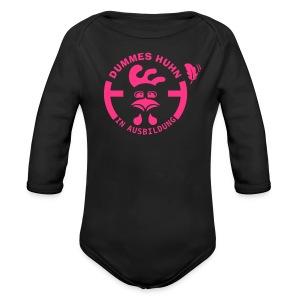 Dummes Huhn in Ausbildung - Baby Bio-Langarm-Body