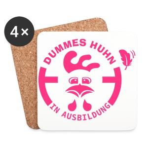 Dummes Huhn in Ausbildung - Untersetzer (4er-Set)