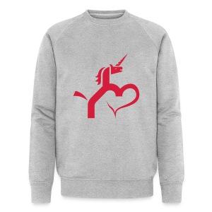 Einhorn mit Herz T-Shirts - Männer Bio-Sweatshirt von Stanley & Stella