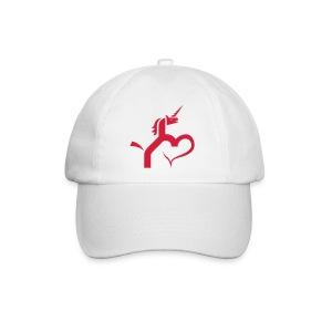 Einhorn mit Herz T-Shirts - Baseballkappe