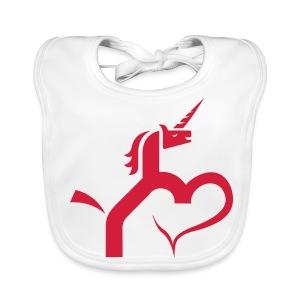 Einhorn mit Herz T-Shirts - Baby Bio-Lätzchen