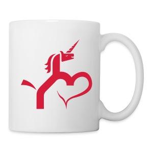 Einhorn mit Herz T-Shirts - Tasse