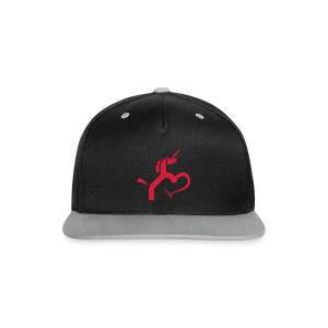 Einhorn mit Herz T-Shirts - Kontrast Snapback Cap