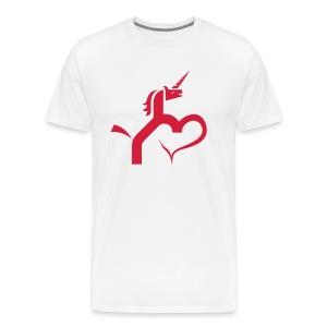 Einhorn mit Herz T-Shirts - Männer Premium T-Shirt