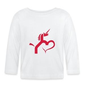 Einhorn mit Herz T-Shirts - Baby Langarmshirt