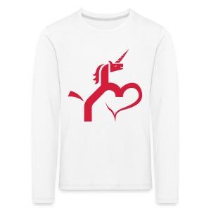 Einhorn mit Herz T-Shirts - Kinder Premium Langarmshirt
