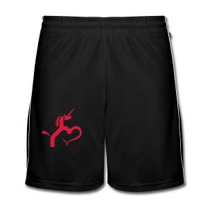 Einhorn mit Herz T-Shirts - Männer Fußball-Shorts