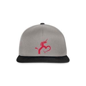 Einhorn mit Herz T-Shirts - Snapback Cap