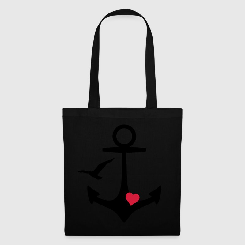 anchor heart and gull Bags & backpacks - Tote Bag