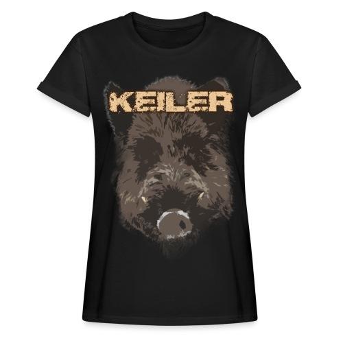Jagdshirt - Keiler braun - Frauen Oversize T-Shirt