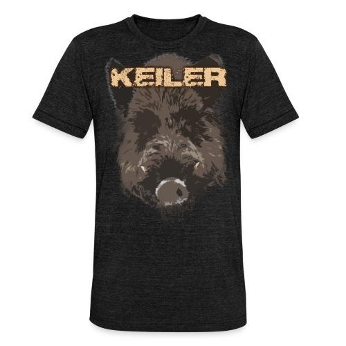 Jagdshirt - Keiler braun - Unisex Tri-Blend T-Shirt von Bella + Canvas