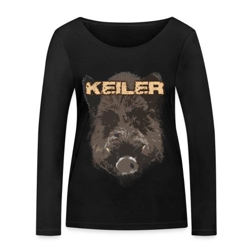 Jagdshirt - Keiler braun - Frauen Bio-Langarmshirt von Stanley & Stella