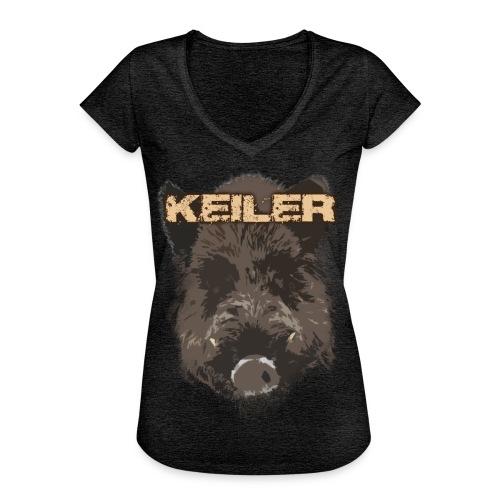 Jagdshirt - Keiler braun - Frauen Vintage T-Shirt