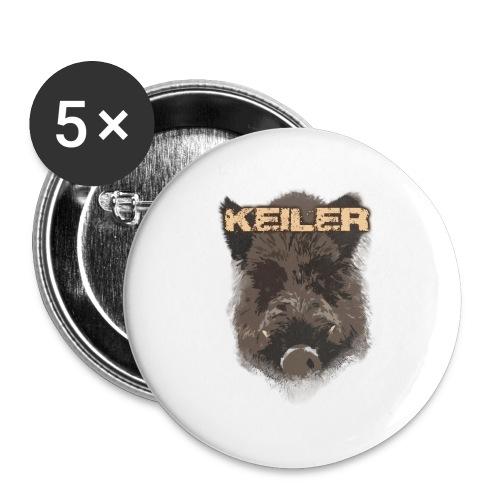 Jagdshirt - Keiler braun - Buttons groß 56 mm