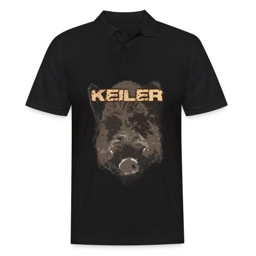Jagdshirt - Keiler braun - Männer Poloshirt