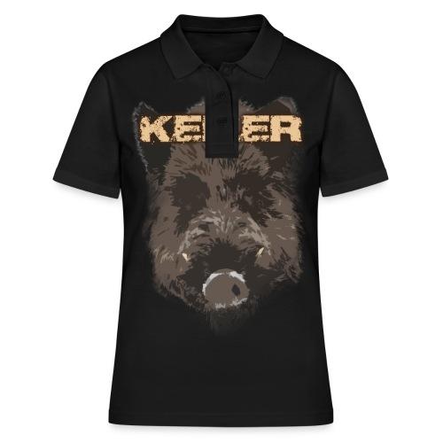 Jagdshirt - Keiler braun - Frauen Polo Shirt
