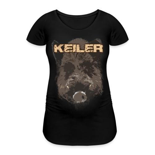 Jagdshirt - Keiler braun - Frauen Schwangerschafts-T-Shirt