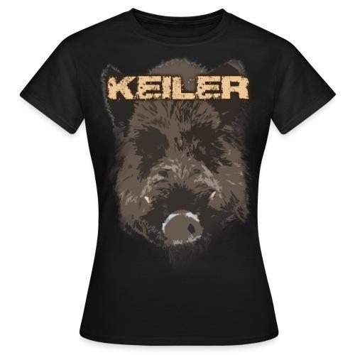 Jagdshirt - Keiler braun - Frauen T-Shirt