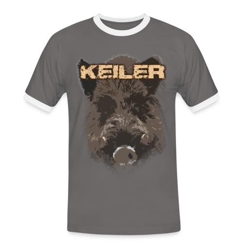 Jagdshirt - Keiler braun - Männer Kontrast-T-Shirt