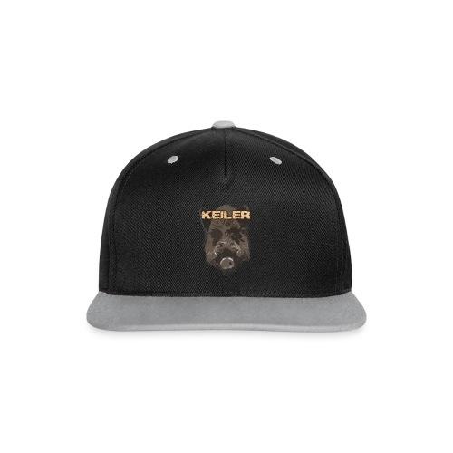 Jagdshirt - Keiler braun - Kontrast Snapback Cap