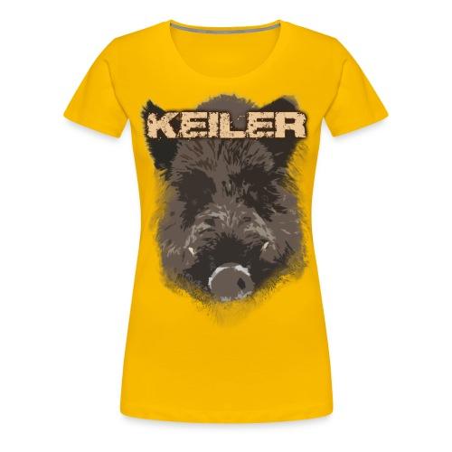 Jagdshirt - Keiler braun - Frauen Premium T-Shirt