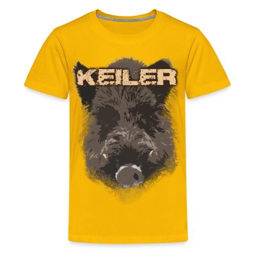 Jagdshirt - Keiler braun - Teenager Premium T-Shirt