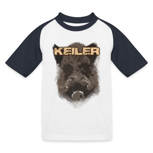 Jagdshirt - Keiler braun - Kinder Baseball T-Shirt