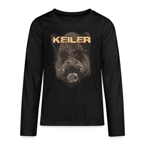 Jagdshirt - Keiler braun - Teenager Premium Langarmshirt