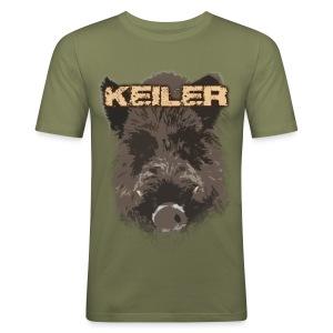 Jagdshirt - Keiler braun - Männer Slim Fit T-Shirt