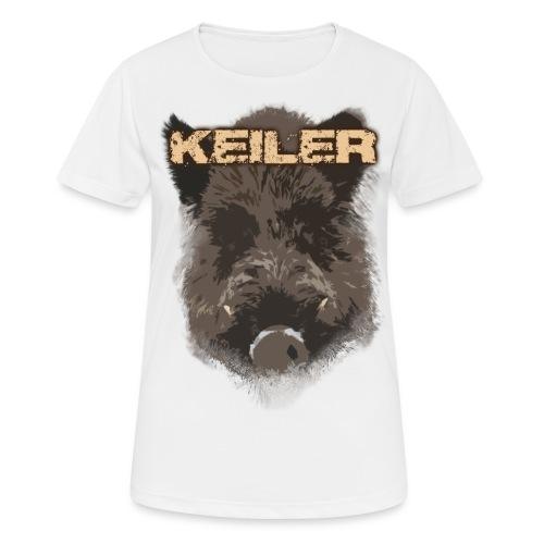 Jagdshirt - Keiler braun - Frauen T-Shirt atmungsaktiv
