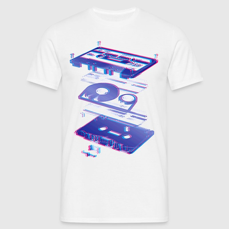 White audio cassette tape compact 80s retro walkman Men's Tees - Men's T-Shirt