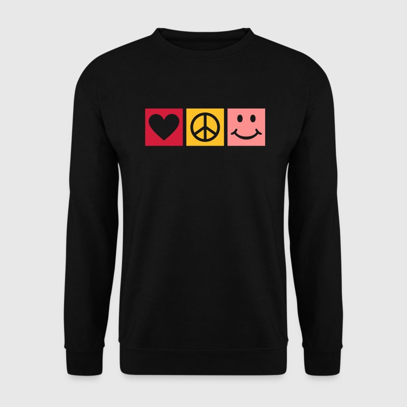 Love Peace Happiness * Bonheur d'amour paix icône Sweat-shirts - Sweat-shirt Homme