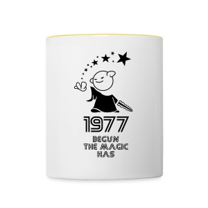1977 the best year - Tasse zweifarbig