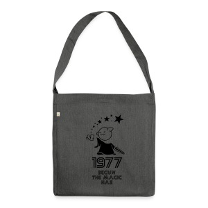 1977 the best year - Schultertasche aus Recycling-Material