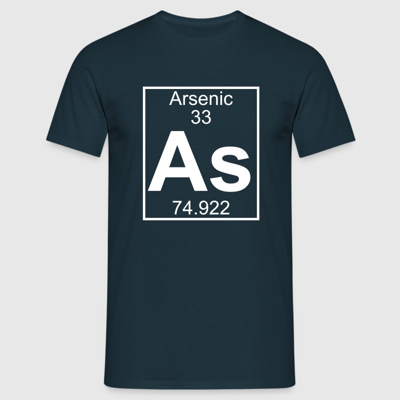 Periodic table element 33 - As (arsenic) - BIG Magliette - Maglietta da uomo
