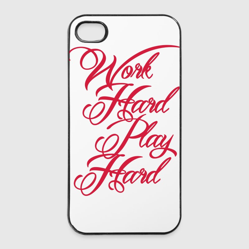 Work Hard Play Hard Coques pour portable et tablette - Coque rigide iPhone 4/4s