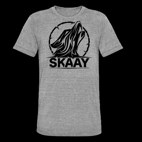 ♂ Hoodie (1. Skaay Logo Schwarz) - Unisex Tri-Blend T-Shirt von Bella + Canvas