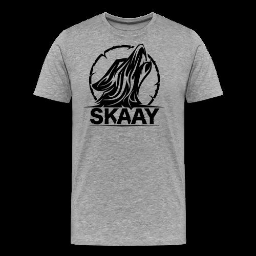 ♂ Hoodie (1. Skaay Logo Schwarz) - Männer Premium T-Shirt
