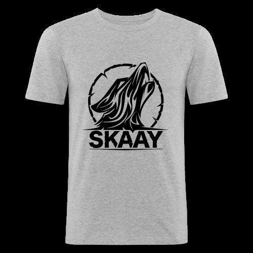 ♂ Hoodie (1. Skaay Logo Schwarz) - Männer Slim Fit T-Shirt