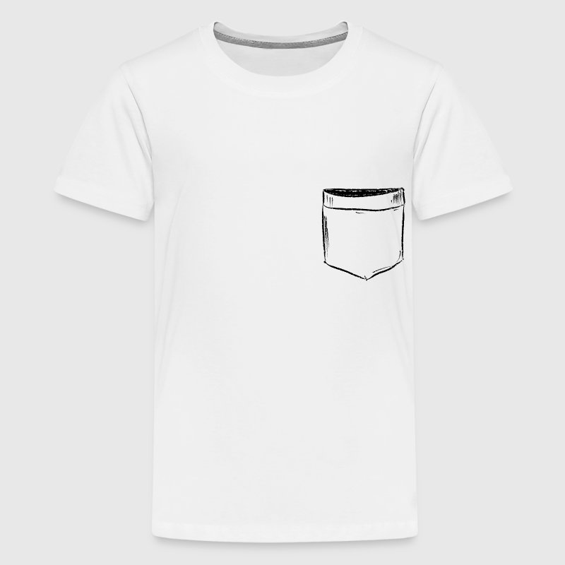 Brusttasche Comic Draw  T-Shirts - Teenager Premium T-Shirt