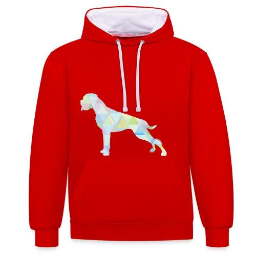 Die bunten Boxerhunde - Kontrast-Hoodie
