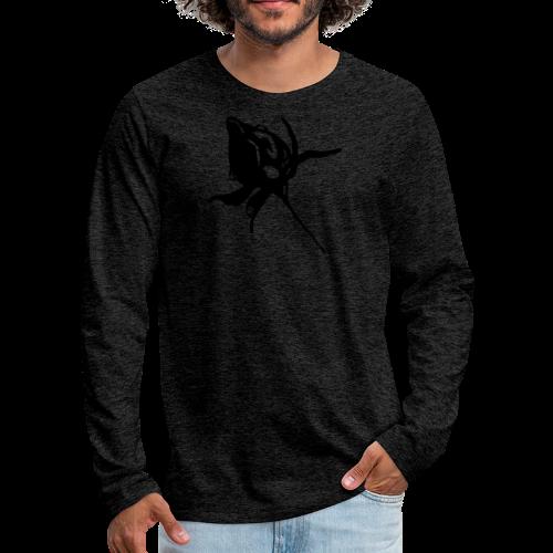 Kinder Kapuzenpullover grüne Rose - Männer Premium Langarmshirt