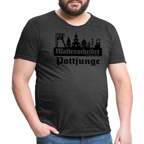 Wattenscheider Pottjunge mit Skyline - Pullover - Männer Vintage T-Shirt