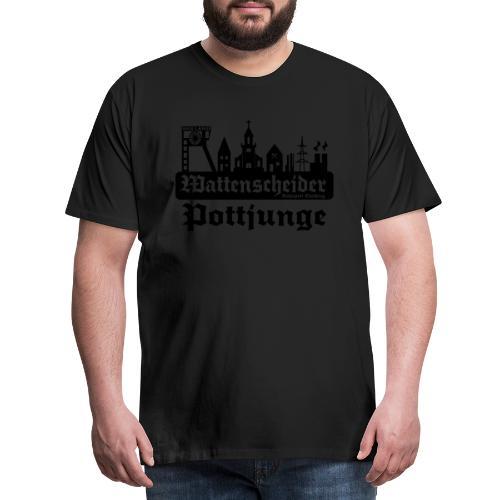Wattenscheider Pottjunge mit Skyline - Pullover - Männer Premium T-Shirt