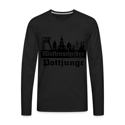 Wattenscheider Pottjunge mit Skyline - Pullover - Männer Premium Langarmshirt