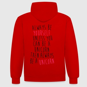 Always be a Unicorn Tee shirts - Sweat-shirt contraste